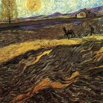 Vincent Van Gogh- Enclosed Field with Ploughman (August 1889) - Private Collection (U.S.)