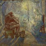 Vincent Van Gogh- Evening The Watch (after Millet)(late October 1889)- Van Gogh Museum, Amsterdam