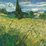 Vincent Van Gogh Green Wheat Field with Cypresses (mid-June 1889)- Narodni Galerie, Prague