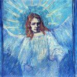 Vincent Van Gogh- Half Figure of an Angel (after Rembrandt)(Sept. 1889)- Location Unknown
