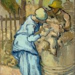 Vincent Van Gogh- The Sheep-Shearers-(Sept. 1889)- Van Gogh Museum, Amsterdam