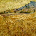 Vincent Van Gogh- Wheat Field with Reaper and Sun (1889)- Rijksmuseum Kröller-Müller, Otterlo