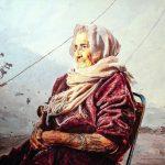 Почтенная женщина, масло, холст, 100х80, 2018, Резчиков Артем