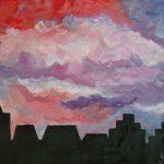 ПЗС - Силуэт города масло, холст, 80х60, 2019 г.-Мария Куцаченко