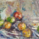 ПЗС - Соковиті яблучка, полотно, олiя, 50х60, 2019р. - Iрина Шакiрова