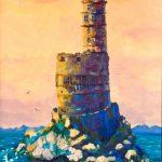 ПЗС - Старый маяк. 40х60, холст, масло, 2018г.-Дарья Шабадаш