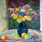 ПЗС - Натюрморт с яблоками, 60х80, холст, масло, 2012 г. - Сергей Кольба
