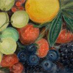 3-е место - Натюрморт с ягодами, холст, пастель, 60х40, 2019 г. - Ахундова Лариса