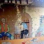 Роспись стен во дворе