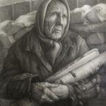 Бабуля, бумага карандаш, 80х60, 2019г.- Низирякин Евгений