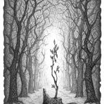 Маленьке деревце, 30х21, папір, олівець, 2019 - Петро Грицюк