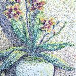 Моя орхидея, бумага,фломастеры (пуантализм), 20×30.-Татьяна Тарасенко