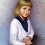 2-е место-Портрет девочки, холст , масло, 50х60, 2018г. - Наталия Кухарська