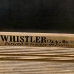 Мать Уистлера, подпись