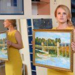 Вольная копия картины Клода Моне «Мост в Аржантее», 2016г.-художник Анна Прохорова