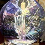 Дары Матери Мира, 2020, холст , масло , диаметр 80 - Т. Золотухина