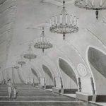 История метро_карандаш_40х60_2020- М. Леоненко