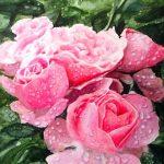 И пахнут розы небом и разлукой, акварель, 21х30 - Сергей Григорьев