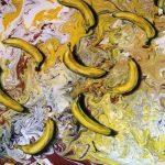 Не банальные бананы, масло, холст, 50х70 - Гридасова 2020