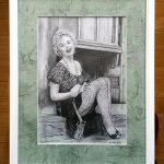 Прекрасная Мэрилин, бумага, карандаш, 30×40 см.(внутри 20х30)-Олег М. Караваев