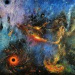 Пространство космических турбулентностей, холст, масло, 80х100, 2020г.- Олег М. Караваев