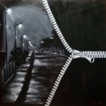 Тишина дождя, масло, холст, 70х70, Гридасова - заказать картину