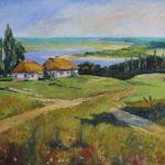 _Українське село, олія, 40х60-Михайловський-Дмитро