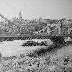 Николаевский цепной мост.г. Киев.1898 г._бумага,карандаш,20х30,2016 г. Олег м. Караваев