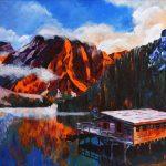 Lago Di Braiez, акрил, 60х80, 2016 р.-Михайловський Дмитро