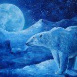 Большая медведица, холст, масло 20х30, 2020г.-Наталия Небесная