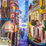 Венеция (копия), холст, масло, 40х50-Юлия Середа
