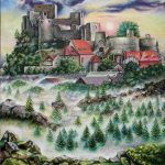 Замок Рабі. Пльзеньський регіон. Чеська республіка, олія, полотно, 40х50, 2020, Ірина Стасюк
