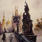 Карлов мост, 36х26, 2020 г. -Наталия Жижко