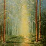 Лісова стежинка, картон,олія, 30х40 2020р. Кутецька Олена