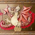 Огненный дракон, декор.-прикл.искусство-22 материала, 90х105, Людмила Бахмат