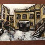 Одесский дворик, бумага, сухая пастель, 35х25, 2019 г. Фрида Шутман