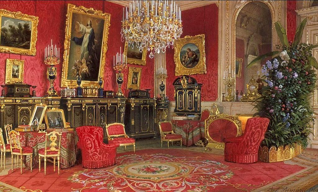 Премацци Premazzi LuigiПремацци Interiors-of-the-Winter-Palace-The-Study-of-Empress-Maria-Alexandrovna