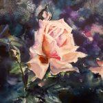 Роза, 48х36, акварель, 2019 г. -Наталия Жижко