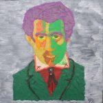 Супрематизм, який його поглинає, авторська техніка, пластилін акрилові фарби, 30х30, 2020 р. Орищук Василь (Vasyl Stewart)