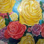 3 место-Комната с розами, 3х4 м, настенный рисунок, грунтовка, гипс, гуашь, лак. 2018г. Ксения Титаренко