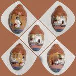 Матусiна колискова, свищик-кулон , ліплення з глини, розпис гуаш 2х1.5см,2020р.-Кутецька Олена