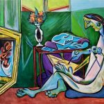 Муза Пикассо (вольная копия), холст, акрил, 40х60, 2021г. Олег М. Караваев.