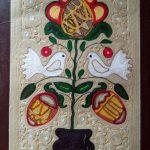Ниткографія Дерево життя, картон, нитки, клей, 30х40,2016р.-Олена Кутецька