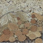 Осенний натюрморт, мозаика из неокрашенной яичной скорлупы, 40х40 Косик Анастасия