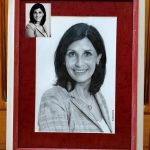 Портрет Виктории, бумага, карандаш, лак, 20х30 см (в раме 35х45см).
