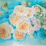 3 место - Цвітіння персикових троянд _ акварель, папір, комбінована техніка_30x42 см_2018р._Тюріна Вікторія