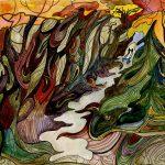 Таинственный лес, акварель, 21х30, 2014г., Климова Ольга