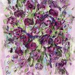 Квіти 3. Олія, полотно, 2019 40х50 - Рубаха Вероніка