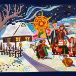 Різдвяна ніч (2), тон. бумага, гуашь, 50х70, 2020 г.-Анастасия Чернявская