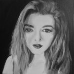 Автопортрет, холст, акрил, 25х25-Алина Андросова